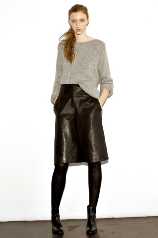 Veggie dyed leather skirt from Organic by John Patrick Fall 2011 collection